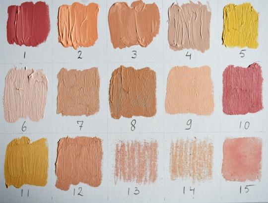 De kleur van huid