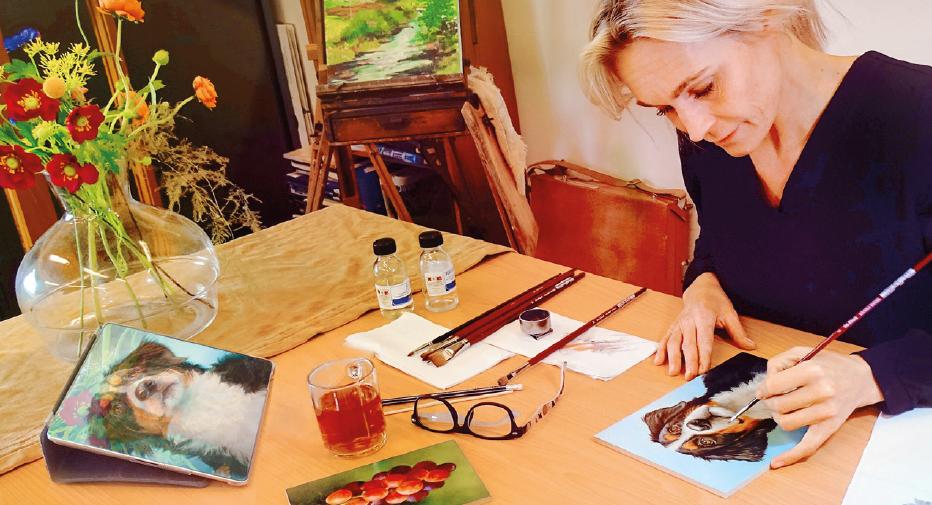 Online leren fijnschilderen