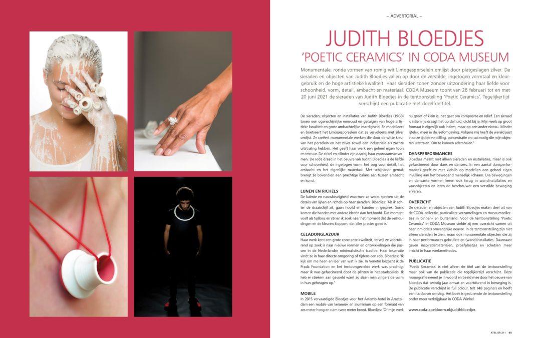 CODA MUSEUM t/m 20 juni 2021 Poetic Ceramics, Judith Bloedjes