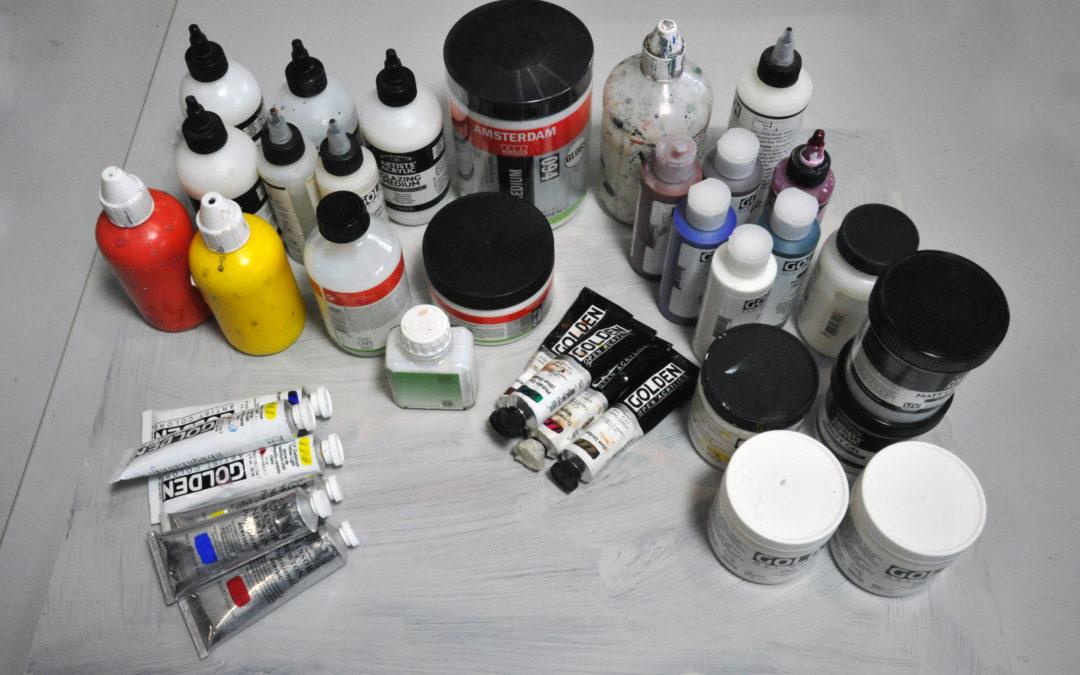 Acrylverven en hulpmiddelen
