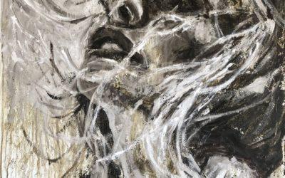 Portret in wit en omber