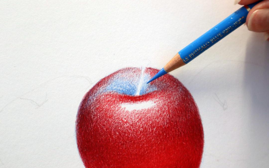 Appels tekenen met drie kleuren